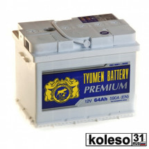 Tyumen Battery Premium 64Ah 590A О/П Pb/Ca